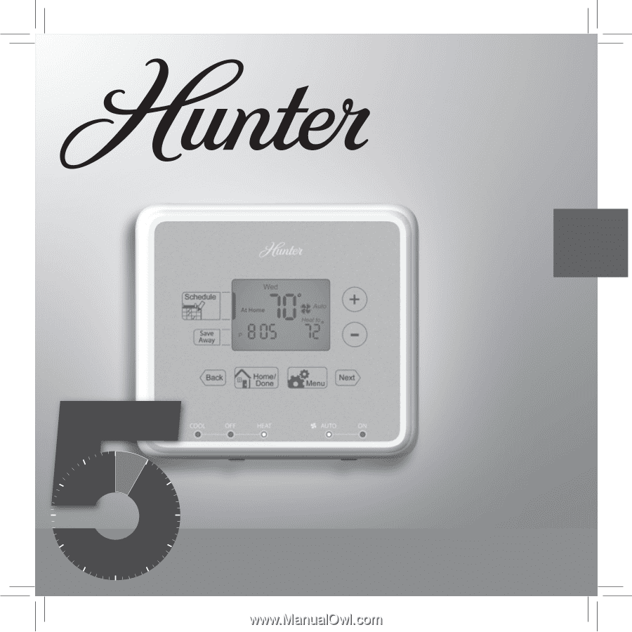 hunter programmable thermostat manual 44155c